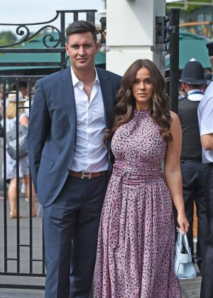 Vicky Pattison and John Noble - Arriving at Wimbledon Tennis Tournament in London