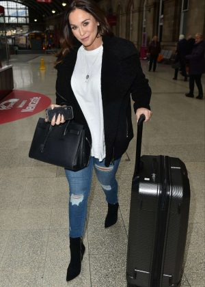 Vicky Pattison at Newcastle Train Station
