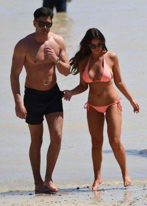 Vicky Pattison in Bikini on the beach in Mallorca