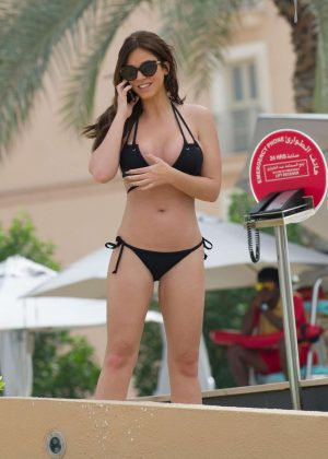Vicky Pattison in Black Bikini in Dubai