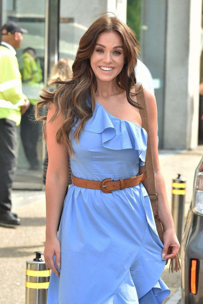 Vicky Pattison in Blue Dress at ITV Studios in London