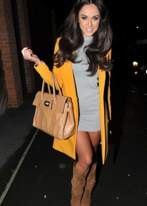 Vicky Pattison in Mini Dress - Night Out in Manchester