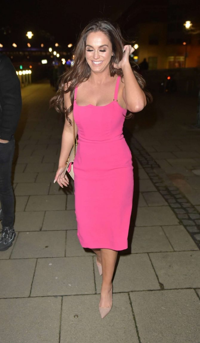 Vicky Pattison in Pink Dress – Night Out at Quayside Bar in Newcastle