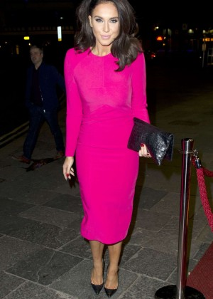 Vicky Pattison in Pink Dress out in Newcastle