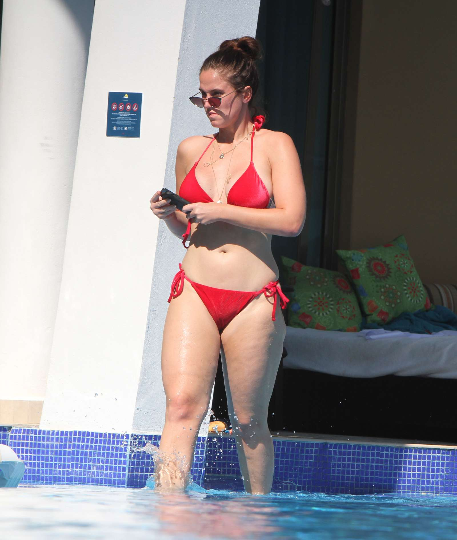 Vicky Pattison in Red Bikini in Tulum