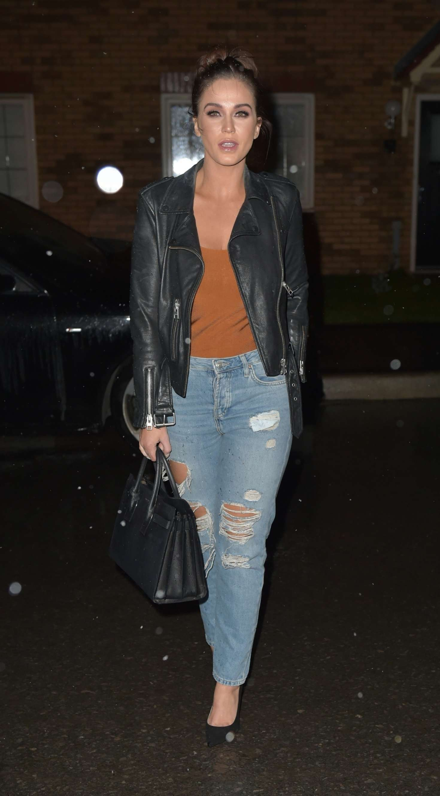 Vicky Pattison in Ripped Jeans - Out in Newcastle