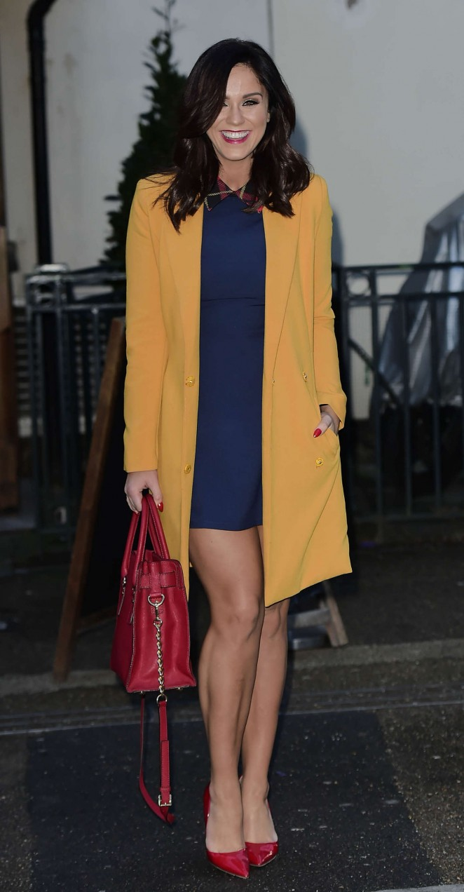 Vicky Pattison - Leggy while leaving a London Pub