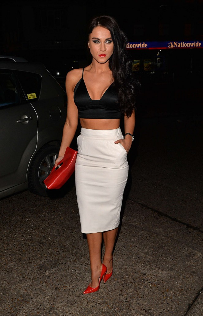 Vicky Pattison in Tight Skirt at LuXe Club in Essex