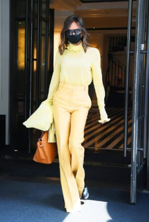 Victoria and Daid Beckham - Seen Leaving Bar Pitti in New York