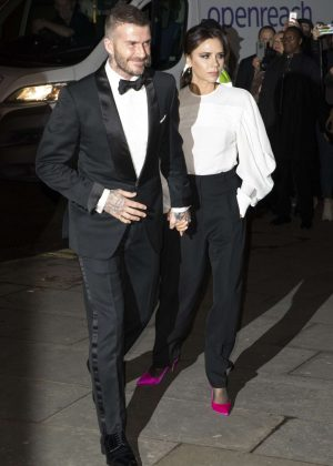 Victoria and David Beckham - National Portrait Gallery Gala in London