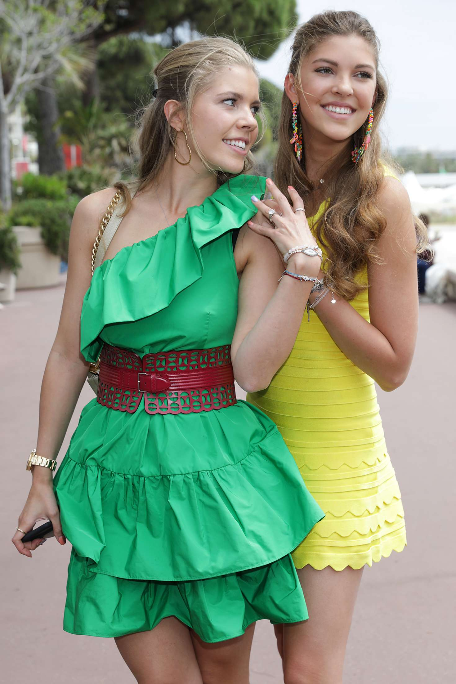 Victoria and Paulina Swarovski at 70th Cannes Film Festival 2017