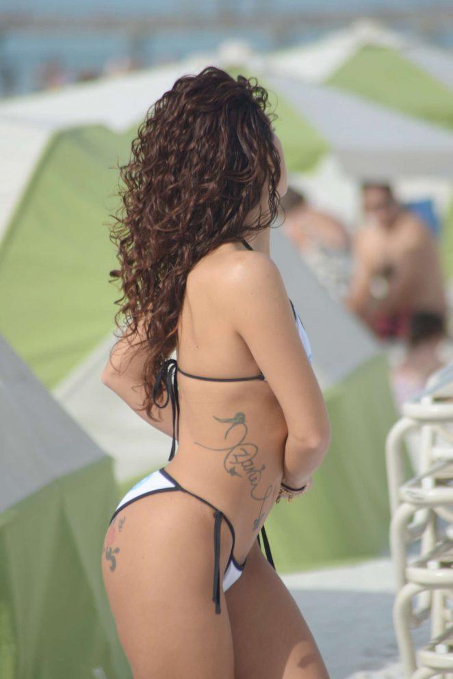 Victoria Banxxx in White Bikini -05