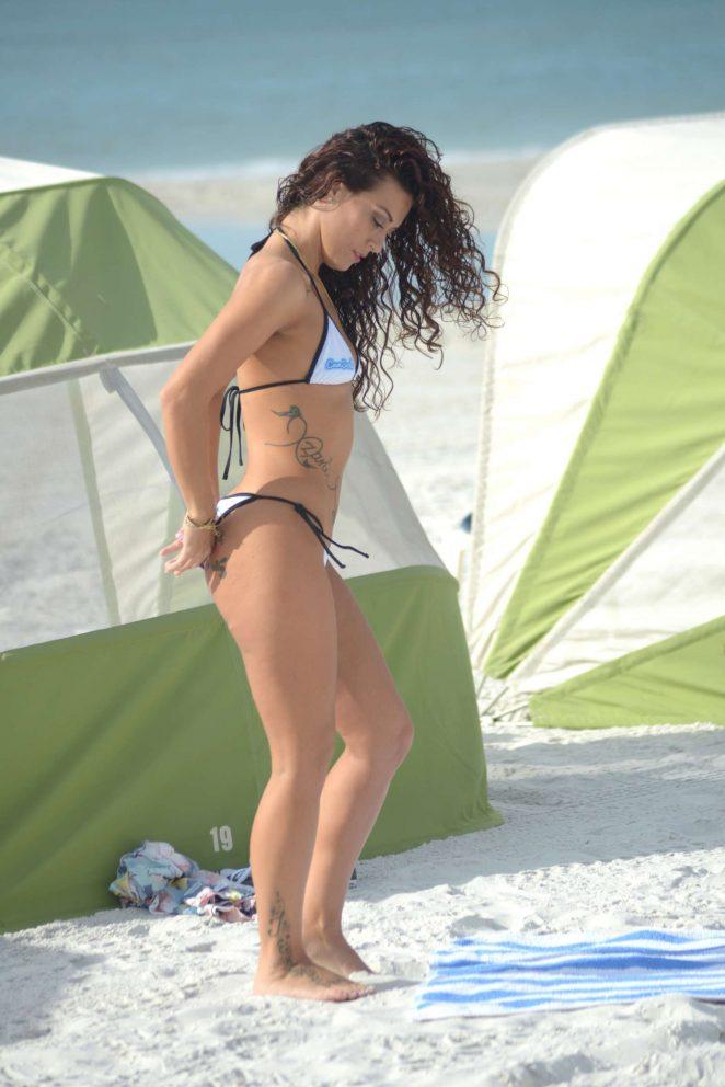 Victoria Banxxx in White Bikini -25