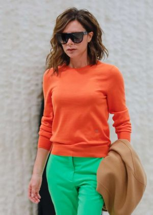 Victoria Beckham - Arrives at JFK airport in New York