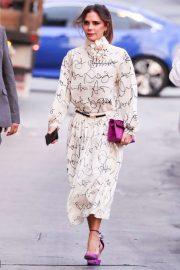 Victoria Beckham - Arrives at Jimmy Kimmel Live in Los Angeles