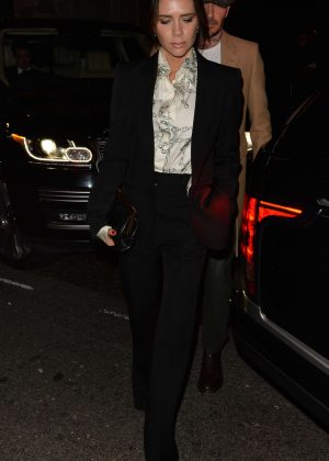 Victoria Beckham - Arrives at Mark's Club in London
