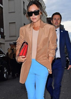 Victoria Beckham - Arrives for her LFW Show in London