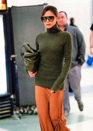 Victoria Beckham at JFK Airport in NYC