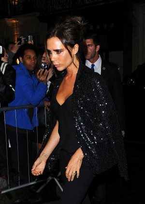 Victoria Beckham - Attending a Dinner Party at Her Flagship Store in London