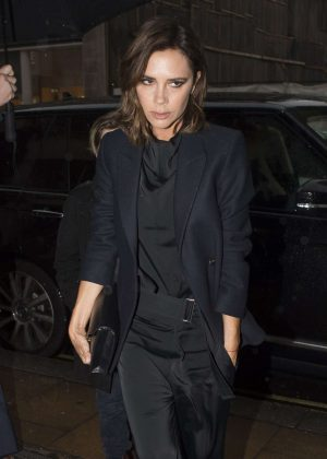 Victoria Beckham attends Brooklyn Beckham's photography book 'What I see' launch in London
