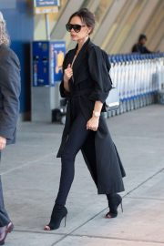 Victoria Beckham - Catches a flight out of JFK Airport in NYC