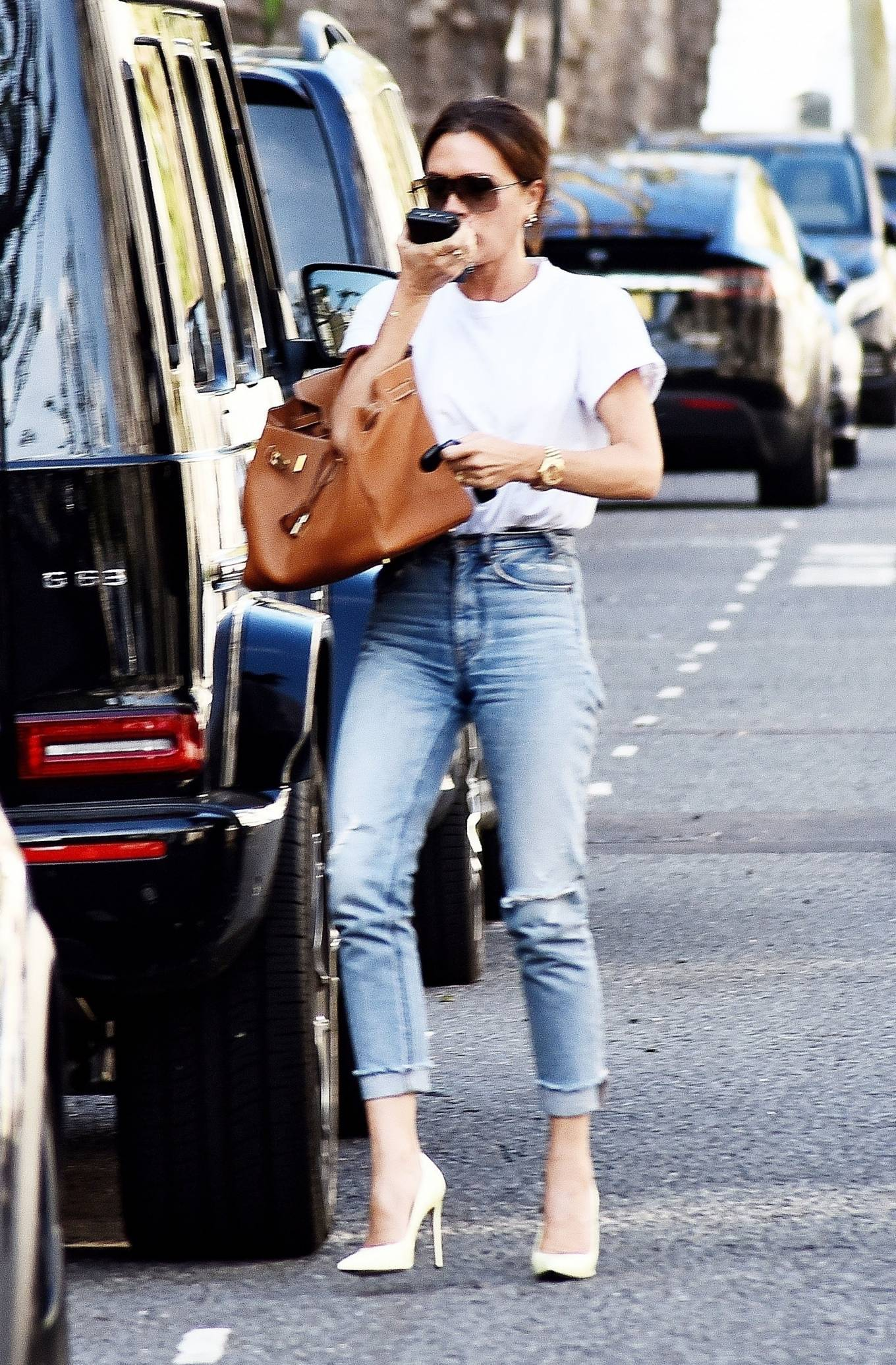 Victoria Beckham 2021 : Victoria Beckham – Dons casual style while out in London-02