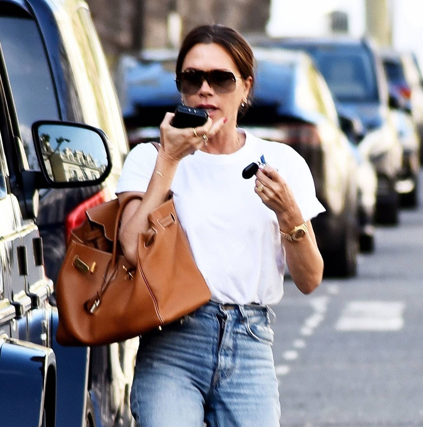 Victoria Beckham 2021 : Victoria Beckham – Dons casual style while out in London-04