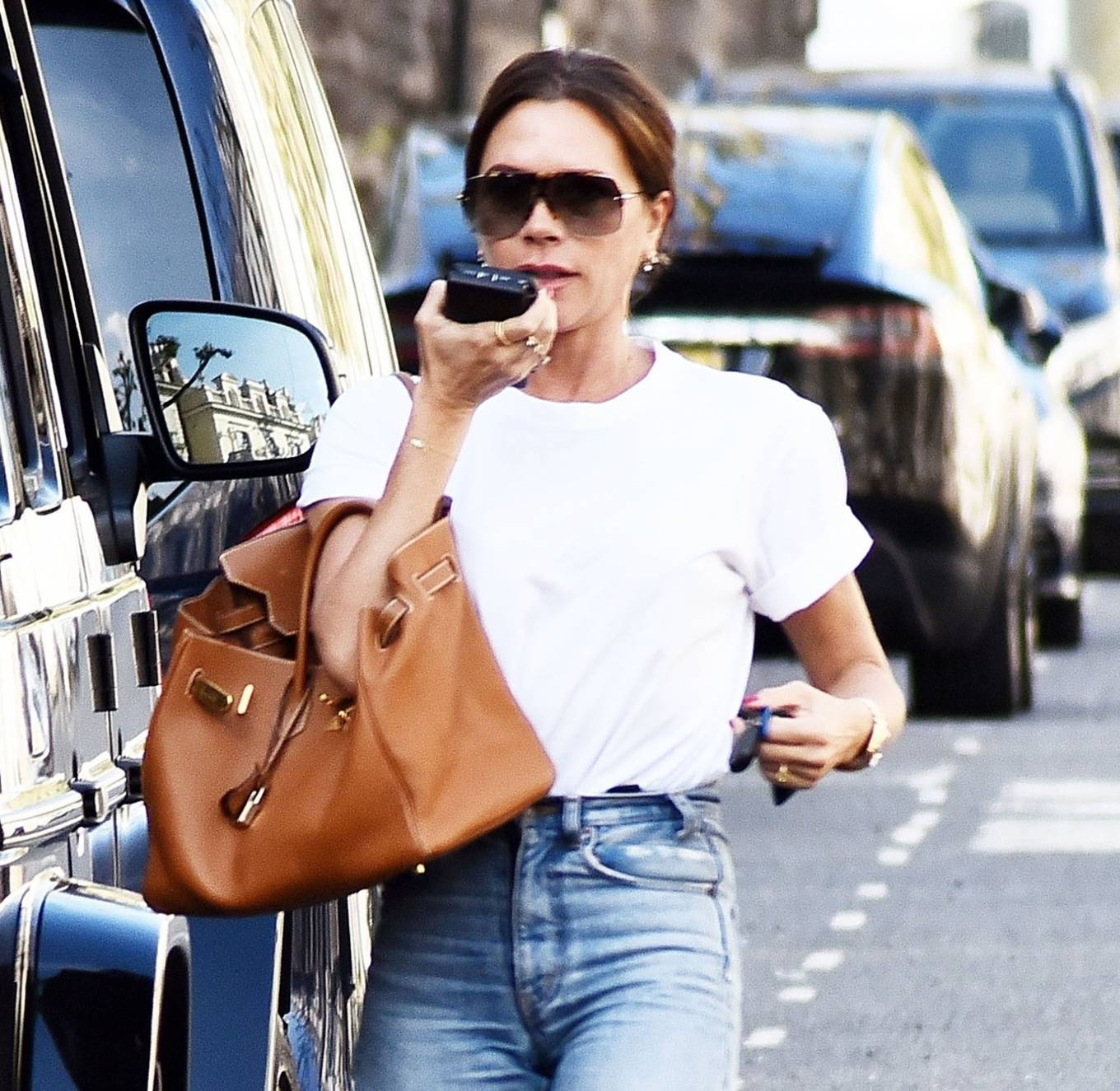 Victoria Beckham 2021 : Victoria Beckham – Dons casual style while out in London-08