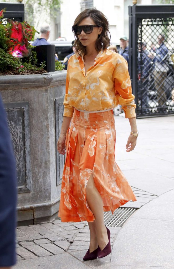 Victoria Beckham headed to a meeting in New York City