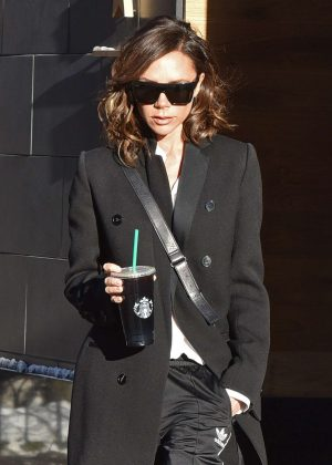 Victoria Beckham heads to starbucks in NYC