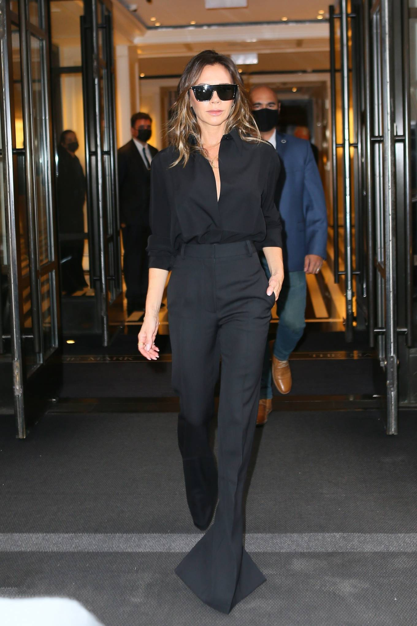 Victoria Beckham - In all black seen while exiting her hotel in New York