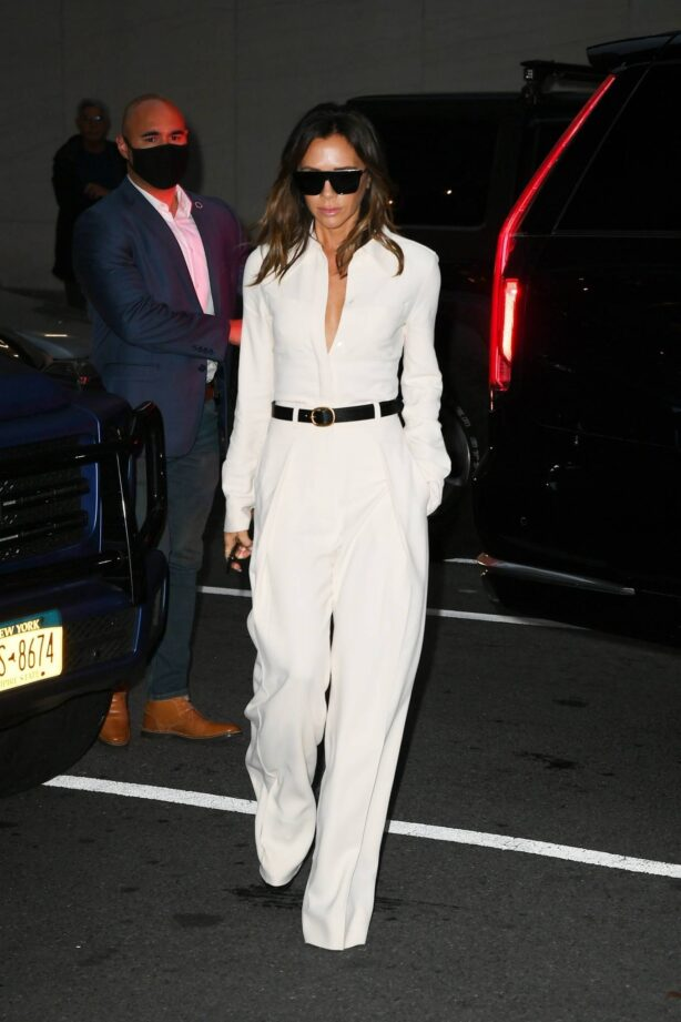 Victoria Beckham - In all white out in New York City