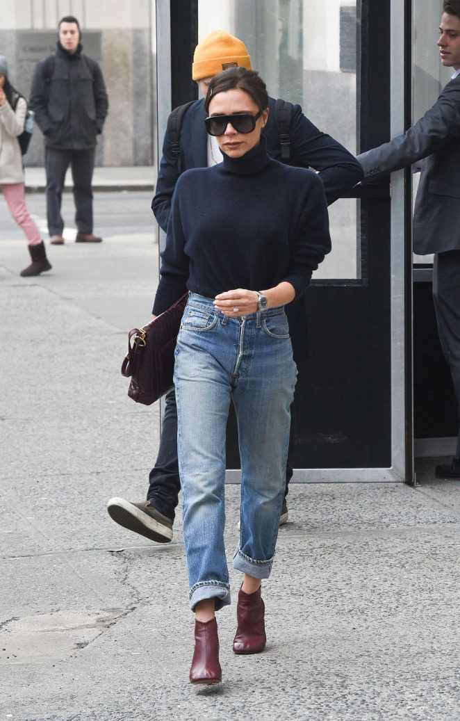 Victoria Beckham in Jeans out in New York City