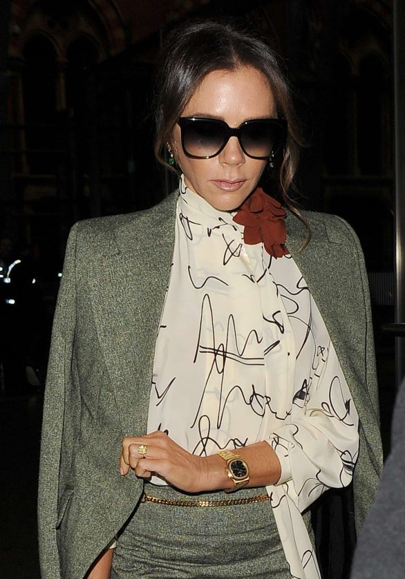 Victoria Beckham - Is seen as arriving back in London