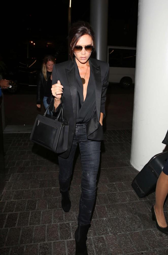 Victoria Beckham: LAX Airport -06