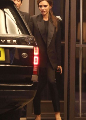 Victoria Beckham - Leaves Beaumont Hotel in London