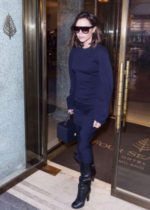 Victoria Beckham - Leaves Her Hotel in Milan