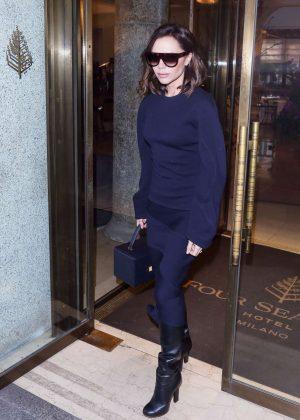 Victoria Beckham - Leaves Her Hotel in Milan