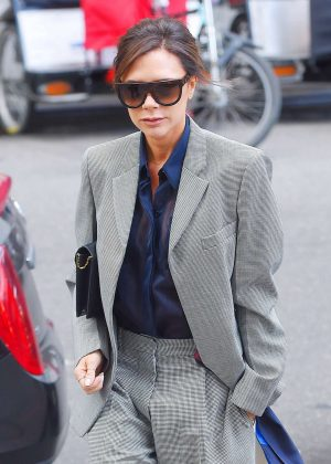 Victoria Beckham Leaves her hotel in NY