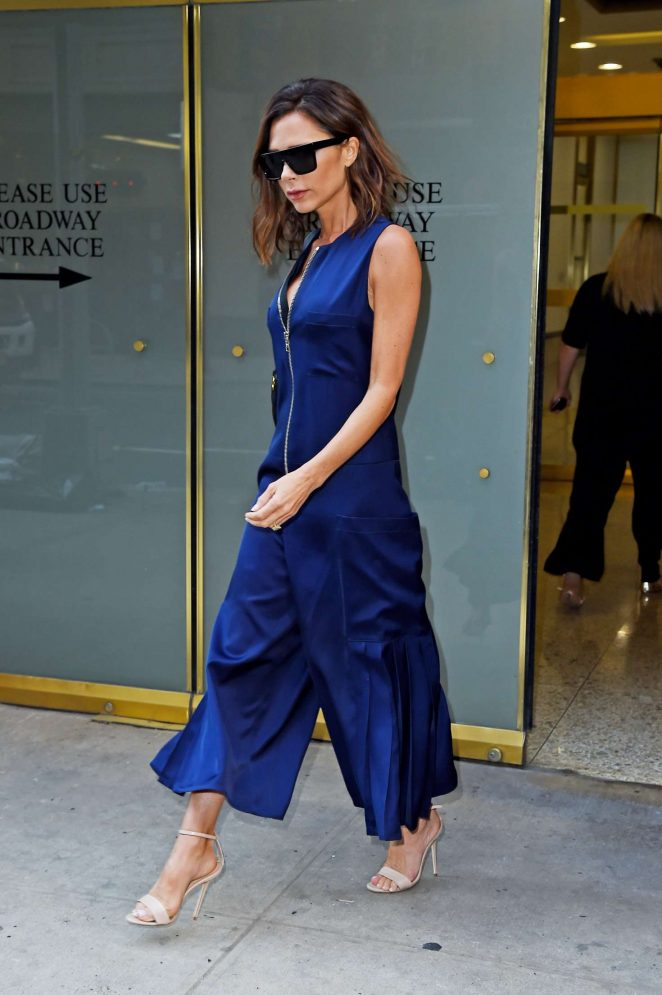 Victoria Beckham Leaving a midtown Manhattan office in NY