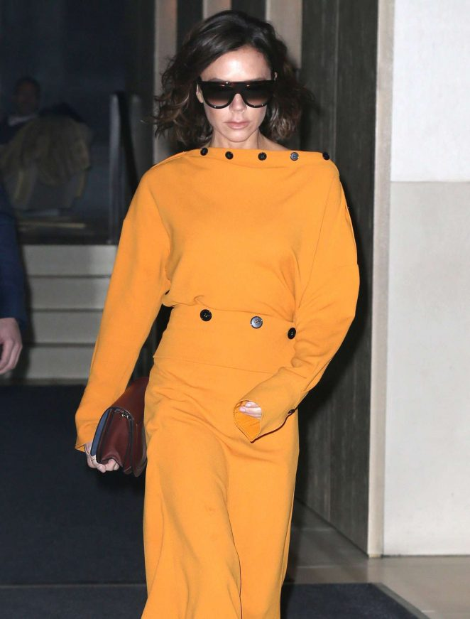 Victoria Beckham - Leaving her apartment in New York City