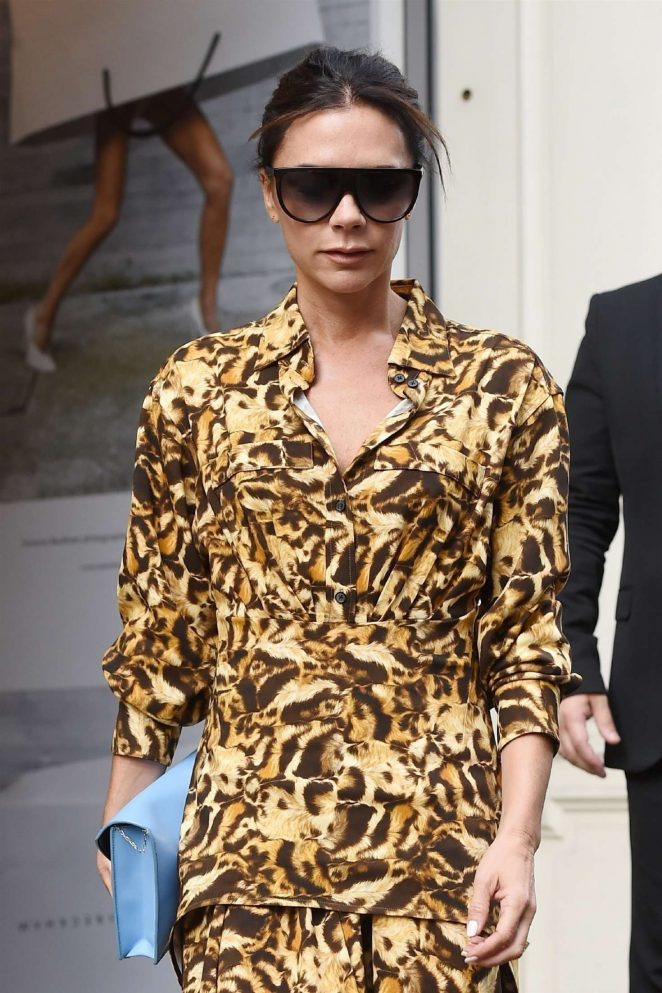 Victoria Beckham - Leaving her flagship store in Mayfair