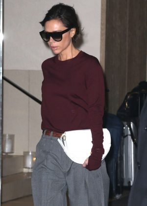 Victoria Beckham - Leaving her home in New York