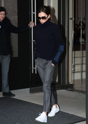 Victoria Beckham Leaving her hotel in New York