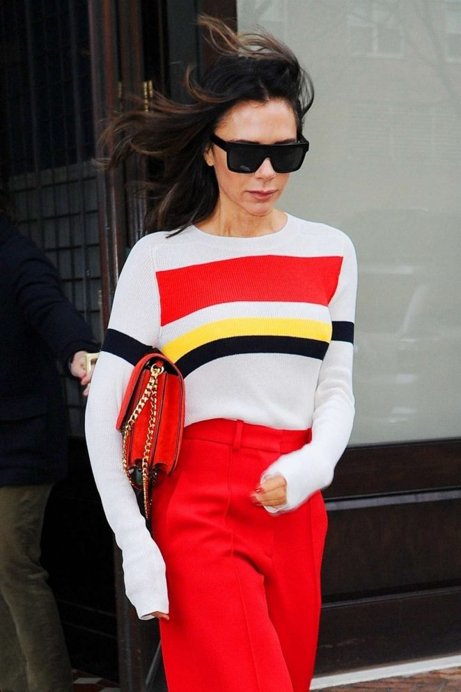 Victoria Beckham - Leaving her hotel in New York