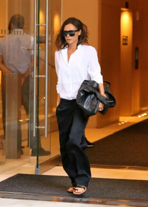 Victoria Beckham - Leaving her hotel in NYC