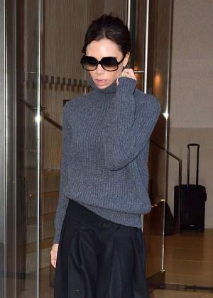 Victoria Beckham Leaving her New York City Hotel