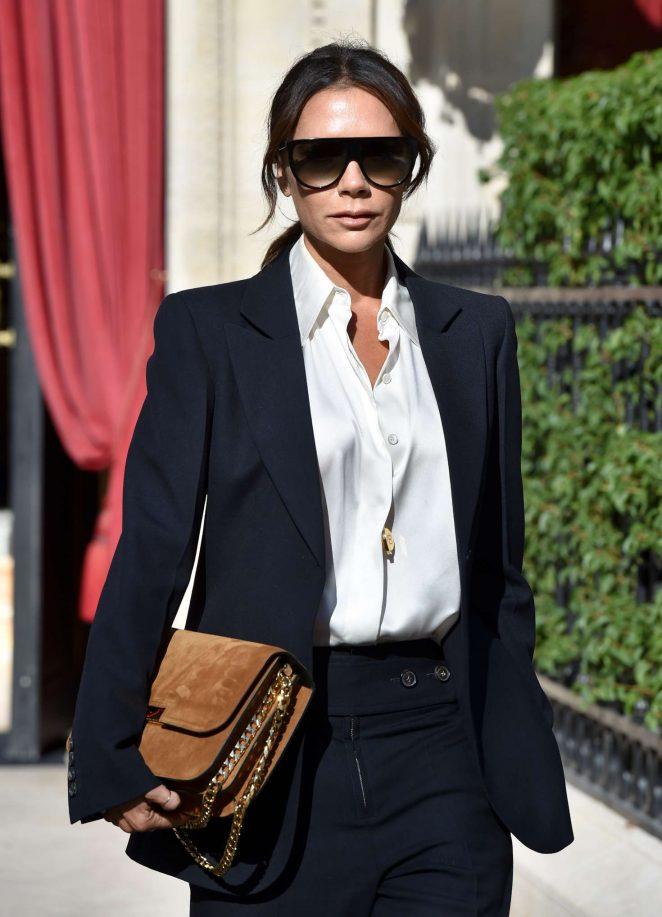 Victoria Beckham - Leaving La Reserve hotel in Paris