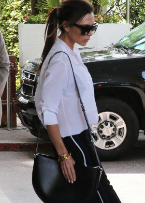 Victoria Beckham - Leaving Martinez Hotel in Cannes