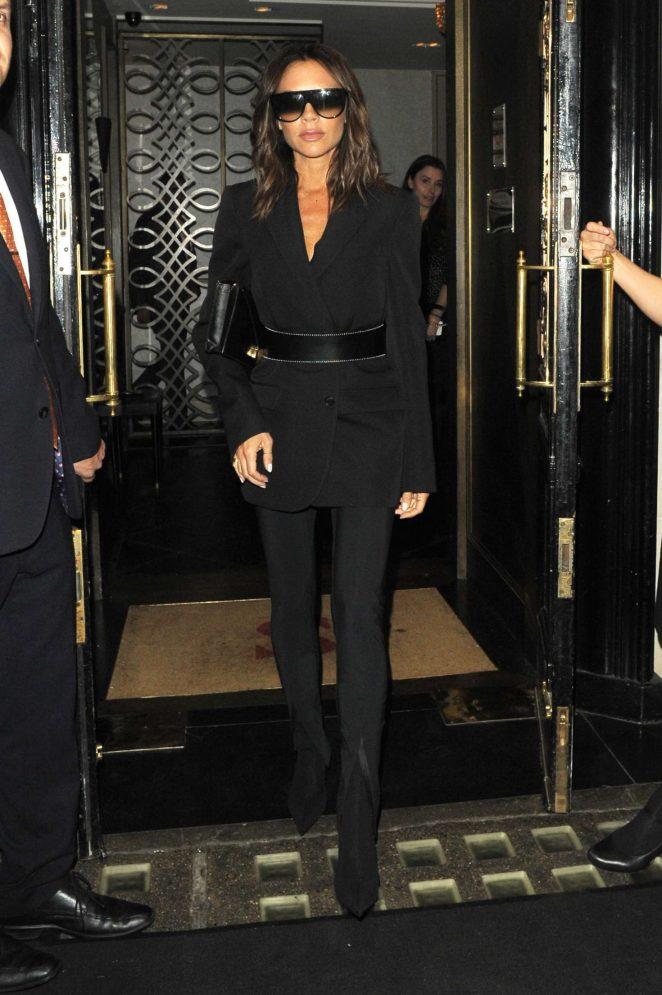 Victoria Beckham - Leaving Scotts restaurant in London